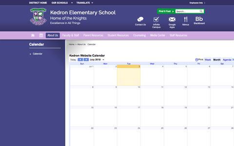 Screenshot of About Page fcboe.org - Calendar / Calendar - captured July 4, 2018