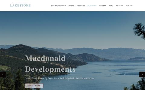 Screenshot of Developers Page lakestoneliving.com - Lakestone | Developer | Lakestone - captured Sept. 26, 2018
