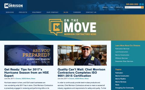 Screenshot of Blog chetmorrison.com - Blog | Chet Morrison Contractors - captured July 29, 2017