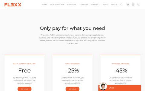 Screenshot of Pricing Page fl3xx.com - Pricing - FL3XX - captured Nov. 4, 2018