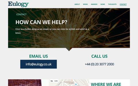Contact | Eulogy
