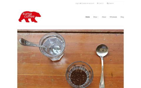 Screenshot of myshopify.com - Kuma Coffee - captured March 3, 2016