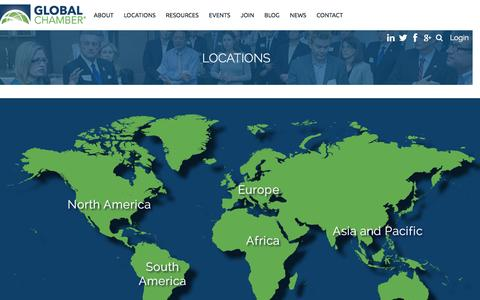 Screenshot of Locations Page globalchamber.org - Global Chamber - Locations - captured Dec. 10, 2015