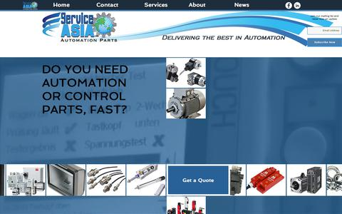 Screenshot of Home Page service-asia.com - Service Asia Ltd | Asia's Leading Automation Parts Supplier - captured Nov. 5, 2017