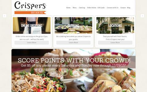 Screenshot of Home Page crispers.com - Crispers - - captured Sept. 29, 2015
