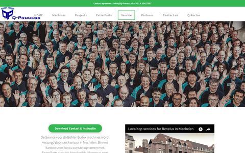 Screenshot of Team Page q-process.nl - Q-Process sorteer machines Bühler Sortex - captured July 14, 2018