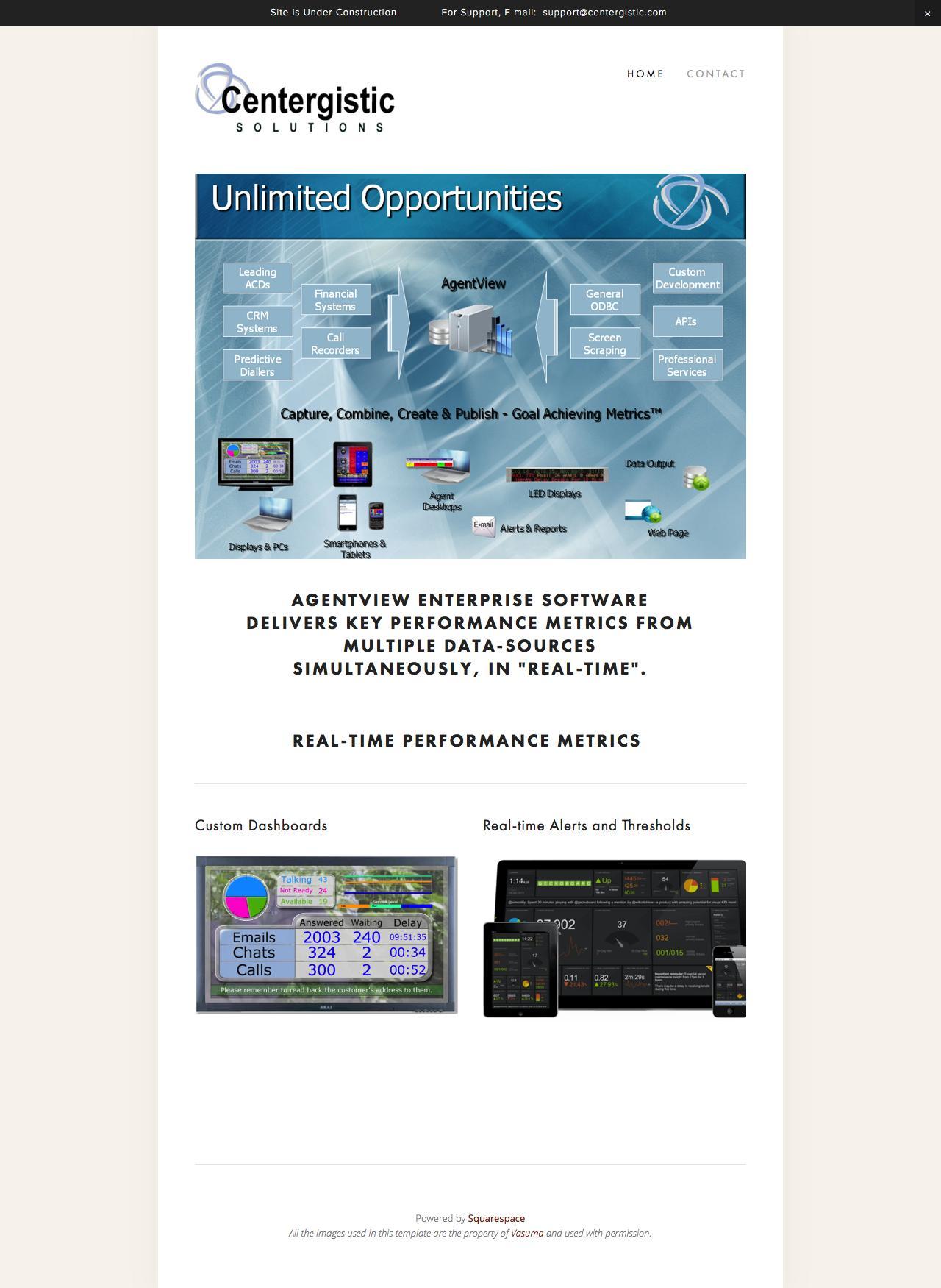 Screenshot of centergistic.com - Centergistic Solutiuons - captured Jan. 26, 2016