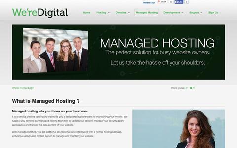 Screenshot of Team Page weredigital.com - Managed Hosting - WereDigital.com - captured Sept. 26, 2014