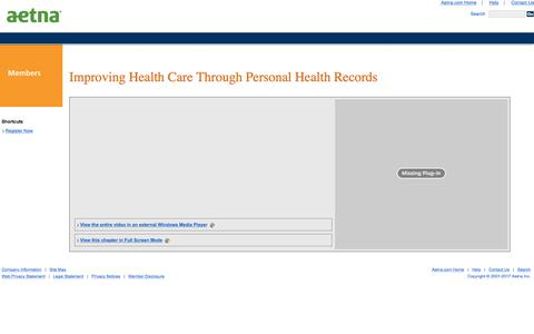 Improving Health Care Through Personal Health Records