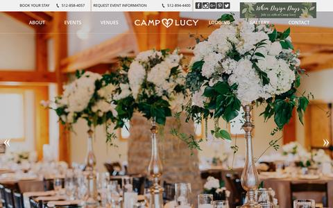 Screenshot of Services Page camplucy.com - Dripping Springs Wedding & Event Management | Camp Lucy - captured May 14, 2017