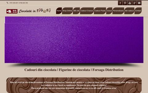 Screenshot of Home Page figurinedeciocolata.ro - Cadouri din ciocolata   Figurine de ciocolata   Cadouri Craciun   Forsaga Distribution - captured Oct. 6, 2015