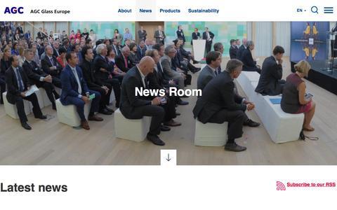 Screenshot of Press Page agc-glass.eu - News | AGC Glass Europe - captured Aug. 6, 2017