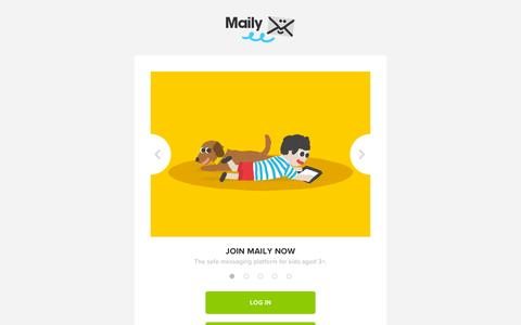 Screenshot of Login Page maily.com - Maily - captured Sept. 30, 2014