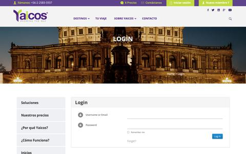 Screenshot of Login Page yaicos.com - LoginYaicos - captured Oct. 1, 2018