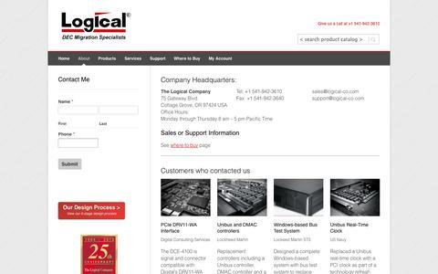 Screenshot of Contact Page logical-co.com - The Logical Company | Contact Us - captured Nov. 5, 2014