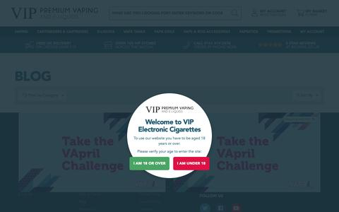 Screenshot of Blog vipelectroniccigarette.co.uk - Blog - captured Nov. 7, 2018