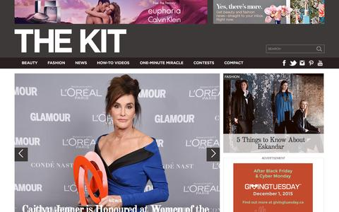Screenshot of Home Page thekit.ca - The Kit - Canada's 360� beauty and style leader - captured Nov. 11, 2015