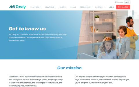 Screenshot of About Page abtasty.com - Get to know AB Tasty - who we are, what we do and why we love it - captured Oct. 12, 2019