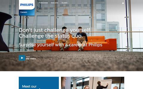 Screenshot of Jobs Page philips.com - Philips Careers - captured June 26, 2017