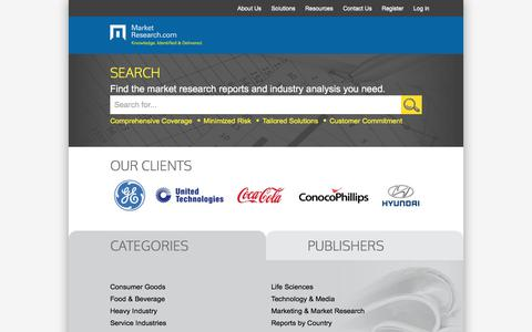Screenshot of Home Page marketresearch.com - MarketResearch.com: Market Research Reports and Industry Analysis - captured June 20, 2017