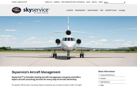 Screenshot of Team Page skyservice.com - Aircraft Management Services Canada » Skyservice - captured Feb. 16, 2016