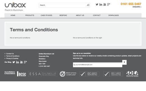 Screenshot of Terms Page unibox.co.uk - Terms and Conditions | Unibox - captured Oct. 3, 2014