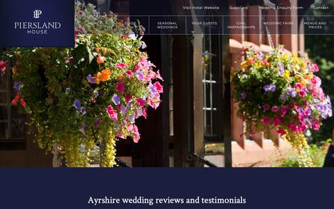 Screenshot of Testimonials Page ayrshireweddingvenue.com - Ayrshire wedding venue testimonials and reviews, reviews of top country house wedding venues in Ayrshire - captured Oct. 24, 2018