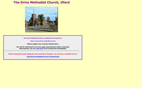 Screenshot of Home Page the-drive-methodist-ilford.org.uk - The Drive Methodist Church - Redirection - captured Jan. 29, 2018