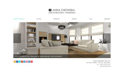 Screenshot of Home Page annacisowska.pl - home | Architektura i wnętrza | Anna Cisowska - captured March 12, 2016
