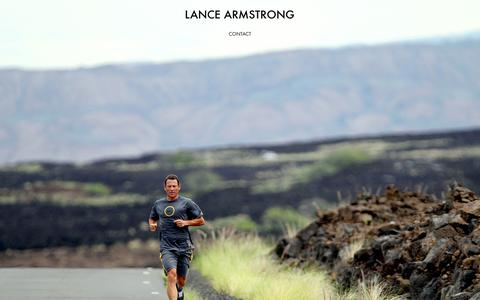 Screenshot of Home Page lancearmstrong.com - Lance Armstrong - captured Sept. 23, 2014
