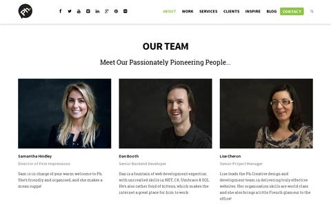 Screenshot of Team Page ph-creative.com - Our Team | Ph.Creative - captured July 19, 2014