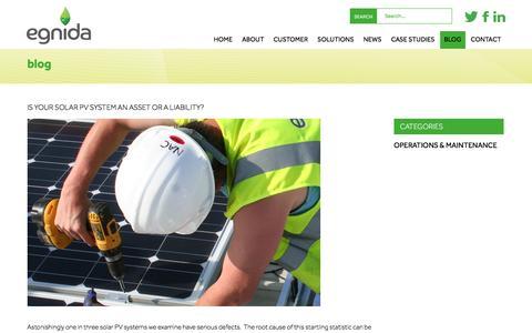 Screenshot of Blog egnida.co.uk - Egnida Blog - The latest from the energy industry - captured July 11, 2016