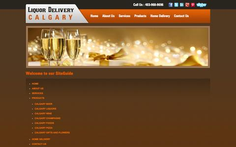 Screenshot of Site Map Page liquordeliverycalgary.ca - A Site Guide to Your Favorite Liquor Delivery Services in Calgary - captured Oct. 27, 2014