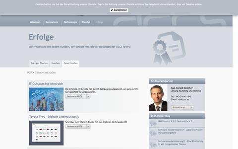 Screenshot of Case Studies Page dccs.at - Case Studies - DCCS - captured Nov. 17, 2016