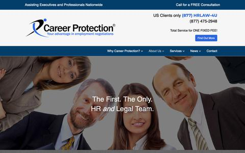Screenshot of Team Page careerprotection.com - Our Team | Career Protection - captured Sept. 27, 2018