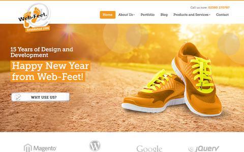 Screenshot of Home Page web-feet.co.uk - Web Design and Web Development in Southampton, Hampshire - captured Jan. 26, 2015