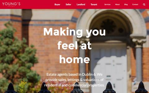 Screenshot of Home Page youngs.ie - Estate agents based in Dublin 6 - Young's Estate Agents - captured Dec. 18, 2016