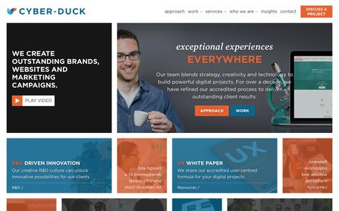 Screenshot of Home Page cyber-duck.co.uk - Award Winning Digital Agency | Cyber-Duck - captured Dec. 14, 2015