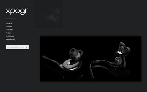Screenshot of Products Page xpogr.com - Products - XPOGR Studio - captured March 8, 2016