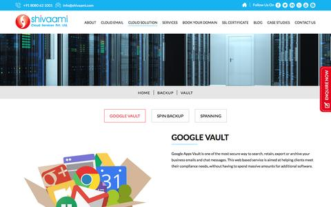 G Suite Vault | Google Vault | Shivaami Cloud Services