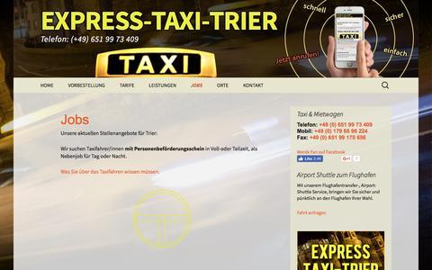 Screenshot of Jobs Page express-taxi-trier.de - Jobs - Работа | Express-Taxi-Trier - captured March 31, 2017