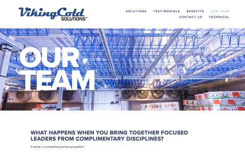 Screenshot of Team Page vikingcold.com - Our team — Viking Cold Solutions™ - captured Feb. 21, 2016