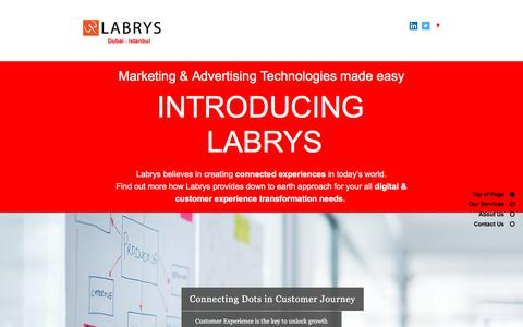 Screenshot of Home Page labrys.com.tr - Home | Labrys Consulting - captured Sept. 26, 2018