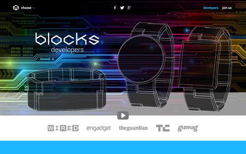 Screenshot of Developers Page chooseblocks.com - Blocks Developers - captured Sept. 19, 2014