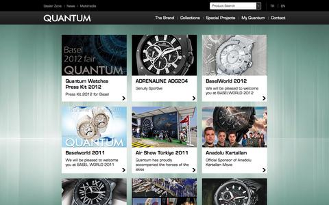 Screenshot of Press Page quantumwatches.com - Quantum Watches | News - captured Sept. 30, 2014