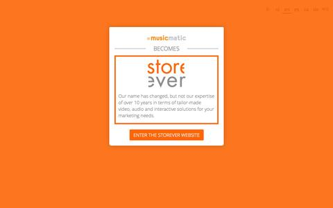 Screenshot of Terms Page musicmatic.com - Storever - captured Oct. 25, 2014