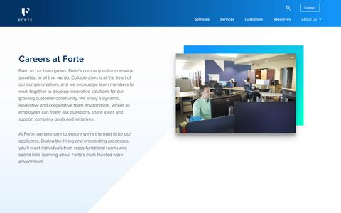 Careers | About Us | Forte