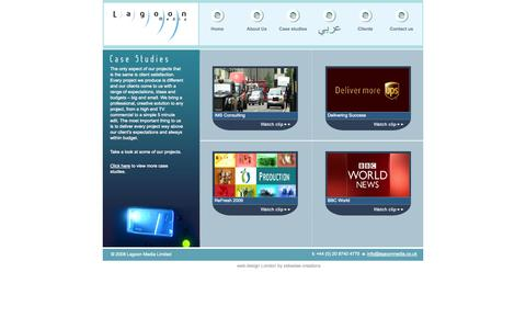 Screenshot of Case Studies Page lagoonmedia.co.uk - Lagoon Media - captured Oct. 1, 2014