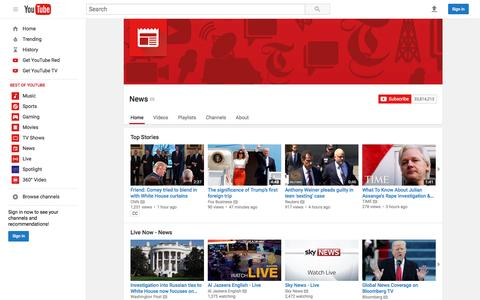 Screenshot of Press Page youtube.com - News  - YouTube - captured May 19, 2017