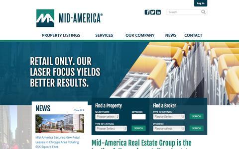 Screenshot of Home Page midamericagrp.com - Mid-America Real Estate Group - captured Nov. 17, 2015